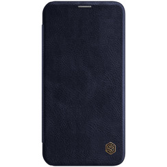 Apple iPhone 12 Mini - Qin Leather Case - Blauw
