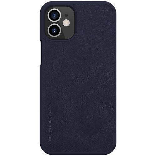 Nillkin Apple iPhone 12 Mini - Qin Leather Case - Blauw