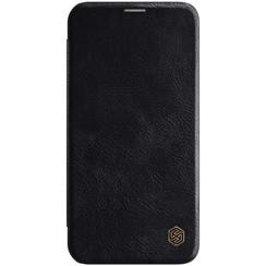 Apple iPhone 12 / 12 Pro - Qin Leather Case - Zwart