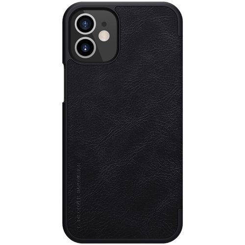Nillkin Apple iPhone 12 / 12 Pro - Qin Leather Case - Zwart