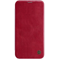 Apple iPhone 12 / 12 Pro - Qin Leather Case - Rood