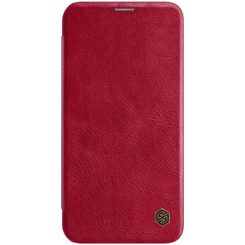 Nillkin Apple iPhone 12 / 12 Pro - Qin Leather Case - Red