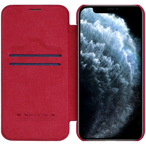 Nillkin Apple iPhone 12 / 12 Pro - Qin Leather Case - Rood