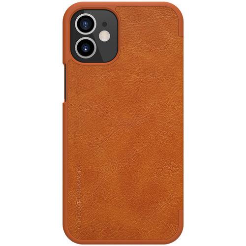 Nillkin Apple iPhone 12 / 12 Pro - Qin Leather Case - Bruin
