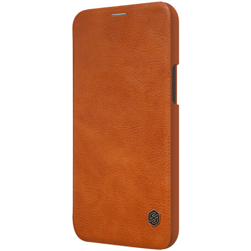 Nillkin Apple iPhone 12 Pro Max - Qin Leather Case - Brown
