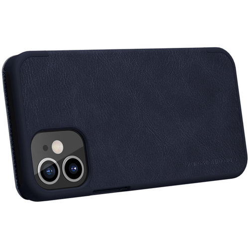 Nillkin Apple iPhone 12 Pro Max - Qin Leather Case - Blauw