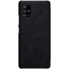 Samsung Galaxy A71 5G - Qin Leather Case - Zwart