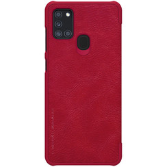Samsung Galaxy A21s - Qin Leather Case - Red