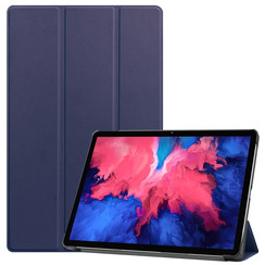 Lenovo Tab P11 Hoes - 11 Inch - Tri-Fold Book Case - Auto Sleep/Wake Functie - Donker Blauw