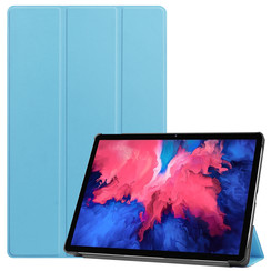 Lenovo Tab P11 Hoes - 11 Inch - Tri-Fold Book Case - Auto Sleep/Wake Functie - Licht Blauw