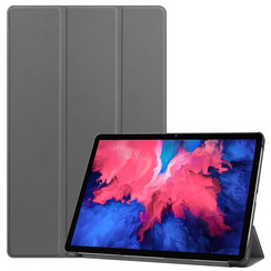 Case for Lenovo Tab P11 - 11 Inch - Slim Tri-Fold Book Case - Lightweight Smart Cover - Grey