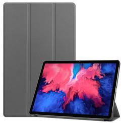 Lenovo Tab P11 Hoes - 11 Inch - Tri-Fold Book Case - Auto Sleep/Wake Functie - Grijs