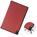 Cover2day Case for Lenovo Tab P11 - 11 Inch - Slim Tri-Fold Book Case - Lightweight Smart Cover - Wine Red