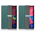Cover2day Case for Lenovo Tab P11 - 11 Inch - Slim Tri-Fold Book Case - Lightweight Smart Cover - Dark Green