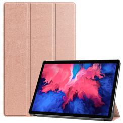 Lenovo Tab P11 Hoes - 11 Inch - Tri-Fold Book Case - Auto Sleep/Wake Functie - Rosé Goud