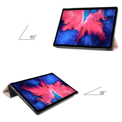 Cover2day Case for Lenovo Tab P11 - 11 Inch - Slim Tri-Fold Book Case - Lightweight Smart Cover - Rose Gold