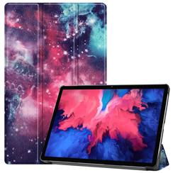 Case for Lenovo Tab P11 - 11 Inch - Slim Tri-Fold Book Case - Lightweight Smart Cover - Galaxy