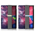 Cover2day Case for Lenovo Tab P11 - 11 Inch - Slim Tri-Fold Book Case - Lightweight Smart Cover - Galaxy