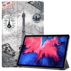 Lenovo Tab P11 Hoes - 11 Inch - Tri-Fold Book Case - Auto Sleep/Wake Functie - Eiffeltoren