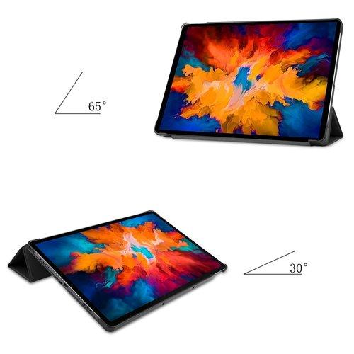 Cover2day Case for Lenovo Tab P11 Pro - 11.5 Inch - Slim Tri-Fold Book Case - Lightweight Smart Cover - Black