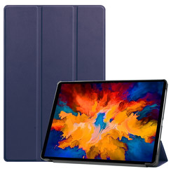 Lenovo Tab P11 Pro Hoes - 11.5 Inch - Tri-Fold Book Case - Auto Sleep/Wake Functie - Donker Blauw