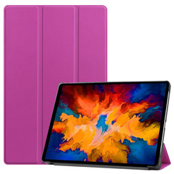 Lenovo Tab P11 Pro Hoes - 11.5 Inch - Tri-Fold Book Case - Auto Sleep/Wake Functie - Paars