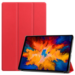 Lenovo Tab P11 Pro Hoes - 11.5 Inch - Tri-Fold Book Case - Auto Sleep/Wake Functie - Rood