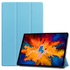 Lenovo Tab P11 Pro Hoes - 11.5 Inch - Tri-Fold Book Case - Auto Sleep/Wake Functie - Licht Blauw