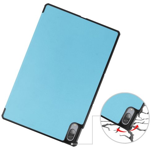 Cover2day Case for Lenovo Tab P11 Pro - 11.5 Inch - Slim Tri-Fold Book Case - Lightweight Smart Cover - Light Blue