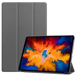 Lenovo Tab P11 Pro Hoes - 11.5 Inch - Tri-Fold Book Case - Auto Sleep/Wake Functie - Grijs