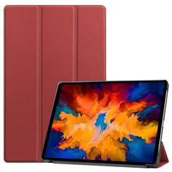 Lenovo Tab P11 Pro Hoes - 11.5 Inch - Tri-Fold Book Case - Auto Sleep/Wake Functie - Donker Rood