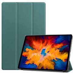 Lenovo Tab P11 Pro Hoes - 11.5 Inch - Tri-Fold Book Case - Auto Sleep/Wake Functie - Donker Groen