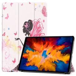 Lenovo Tab P11 Pro Hoes - 11.5 Inch - Tri-Fold Book Case - Auto Sleep/Wake Functie - Flower Fee