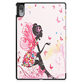 Cover2day Case for Lenovo Tab P11 Pro - 11.5 Inch - Slim Tri-Fold Book Case - Lightweight Smart Cover - Flower Fairy