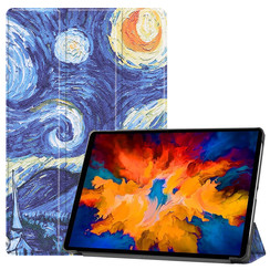 Lenovo Tab P11 Pro Hoes - 11.5 Inch - Tri-Fold Book Case - Auto Sleep/Wake Functie - Sterrenhemel
