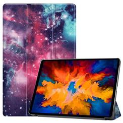 Lenovo Tab P11 Pro Hoes - 11.5 Inch - Tri-Fold Book Case - Auto Sleep/Wake Functie - Galaxy
