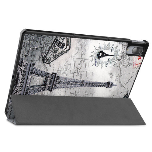 Cover2day Case for Lenovo Tab P11 Pro - 11.5 Inch - Slim Tri-Fold Book Case - Lightweight Smart Cover - Hülle für Lenovo Tab P11 Pro - 11.5 Zoll - Dreifach Falt Schutzhülle Case - Ultra Dünn Leicht Ständer - Eiffel Tower