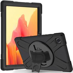 Samsung Galaxy Tab A7 (2020) Case - Shock-Proof Hand Strap Armor Case - Black