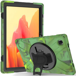 Samsung Galaxy Tab A7 (2020) Case - Shock-Proof Hand Strap Armor Case - Camouflage