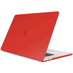 Macbook Pro 13 inch (2020) cover - Laptop Case - Plastic Hard Cover - Rood