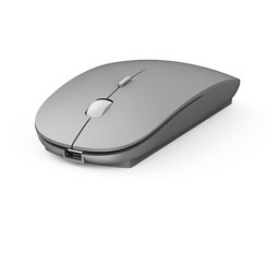 WiWu - Wireless Mouse - Bluetooth Mouse - Dual Mode - rechargeable - 1600 DPI - Silent Click - Silver