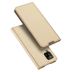 Dux Ducis - Case for Samsung Galaxy A42 5G - Ultra Slim PU Leather Flip Folio Case with Magnetic Closure - Gold