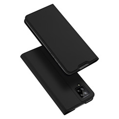 Case for Samsung Galaxy A12 Ultra Slim PU Leather Flip Folio Case with Magnetic Closure - Black