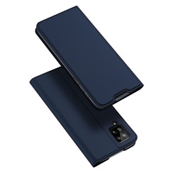 Case for Samsung Galaxy A12 Ultra Slim PU Leather Flip Folio Case with Magnetic Closure - Blue