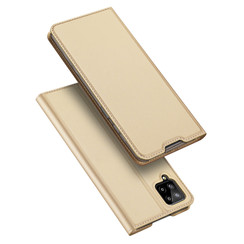 Case for Samsung Galaxy A12 Ultra Slim PU Leather Flip Folio Case with Magnetic Closure - Gold