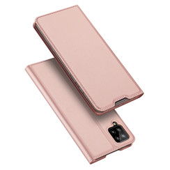Case for Samsung Galaxy A12 Ultra Slim PU Leather Flip Folio Case with Magnetic Closure - Rosé-Gold