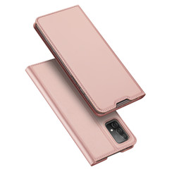 Samsung Galaxy A52 5G Hoesje - Dux Ducis Skin Pro Book Case - Rosé-Goud