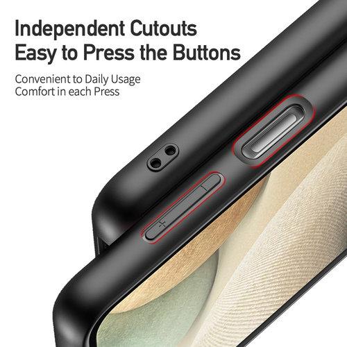 Dux Ducis Dux Ducis - Samsung Galaxy A12 hoesje - Fino Series - Back Cover - Licht Blauw