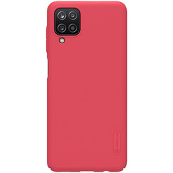 Nillkin - Samsung Galaxy A12 Hoesje - Super Frosted Shield - Back Cover - Rood