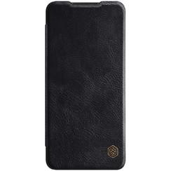 Samsung Galaxy A12 Hoesje - Qin Leather Case - Flip Cover - Zwart